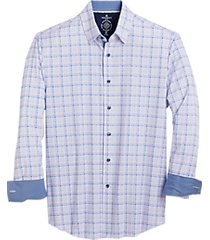 con. struct blue & pink check four-way stretch slim fit sport shirt