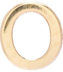 'petite letter' 10k gold single earring - o