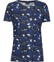 d1. aop autumn ss top t-shirts & tops short-sleeved blauw gant