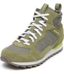 zapatilla alpine sneaker mid verde merrell