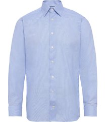 dobby shirt overhemd business blauw eton