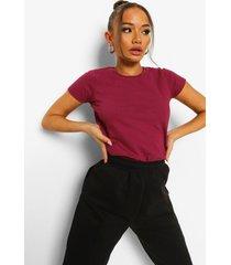 basic t-shirt, burgundy