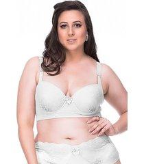 sutiã sempre sensual lingerie retrô branco - kanui