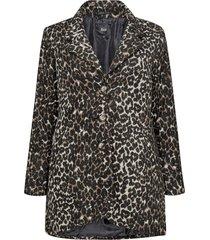 jacka mleo l/s jacket, leopardmönstrad