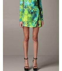 versace skirt mini versace jersey skirt with jungle print and brooch