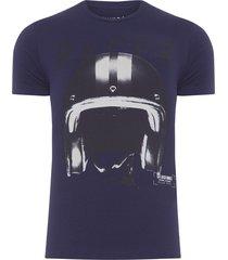 camiseta masculina cotton fine race - azul