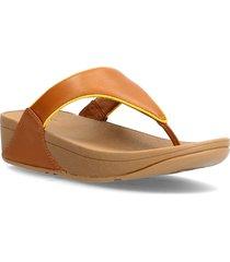 lulu pop binding toe-post sandals shoes summer shoes flat sandals brun fitflop