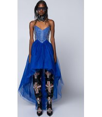 akira she's royalty high and low tulle dress