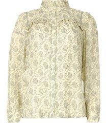 blouse met ruches bora  naturel