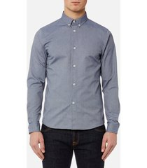 a.p.c. men's chemise button down shirt - dark navy - xxl