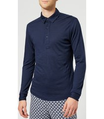 orlebar brown men's sebastian merino polo shirt - navy - xl - navy