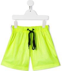 duoltd mesh layered shorts - yellow