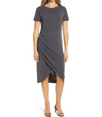 women's chelsea28 side ruched jersey dress, size x-small - grey