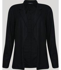 blazer feminino longo preto