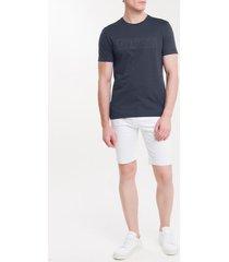 camiseta masculina slim logo em relevo azul marinho calvin klein - pp