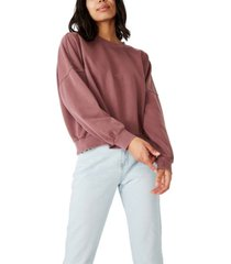 cotton on harper boxy oversized crew sweater