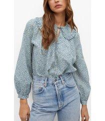mango babydoll collar blouse