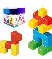 blocos de montar cubo magnético brinquedo educativo magforma