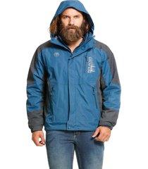 jaqueta dupla face  tã©rmica azul vlcs - azul - masculino - dafiti