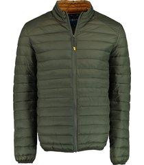 bos bright blue tussenjas puff jacket olijf rf 20301ja03bo/368 olive