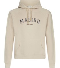 saint laurent malibu cotton hoodie