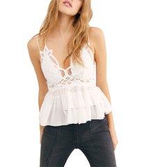 women's free people adella camisole, size x-large - white