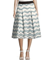 chevron inverted pleat skirt