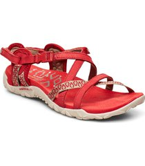 terran lattice ii chili shoes summer shoes flat sandals röd merrell