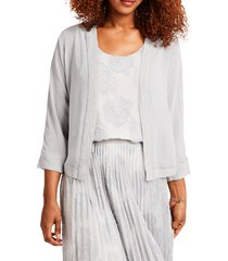 women's nic+zoe cloud covered cardigan, size large - grey