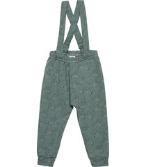wolf suspenders pants jumpsuit grön müsli by green cotton