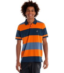 camisa polo konciny manga curta laranja