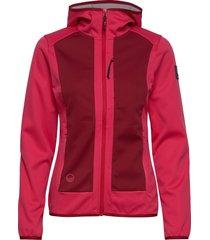 sointu w softshell jacket sommarjacka tunn jacka rosa halti