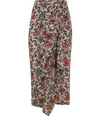 isabel marant long printed skirt
