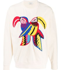 ymc toucan embroidered sweatshirt - neutrals