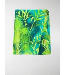 versace palm tree print skirt