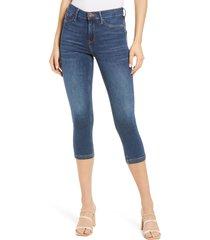 women's river island molly sculpt skinny jeans, size 2 us - blue