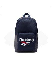 mochila azul  reebok classic