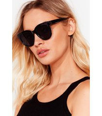 womens come and see me tinted square sunglasses - black