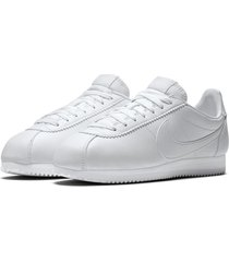 tenis de mujer wmns classic cortez leather nike - blanco