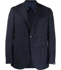 barba classic fitted blazer - blue