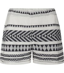 katoenen shorts met azteken print louie  zwart