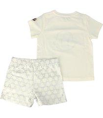 moncler cotton t-shirt, shorts and hat suit