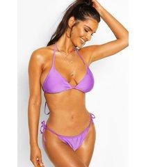 tie triangle bikini, purple