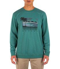 hurley men's unridden ones summer crew sweatshirt