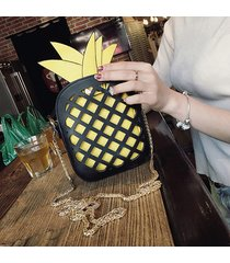 forma a forma di ananas scava fuori spalla borsa cartoon crossbody borsa phone borsa