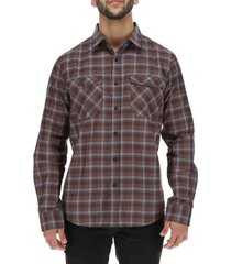 camisa m/l hombre brighton long sleeve café burton