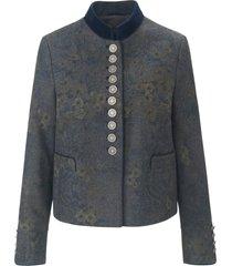 jas met staande kraag van fluweel van schneiders salzburg blauw
