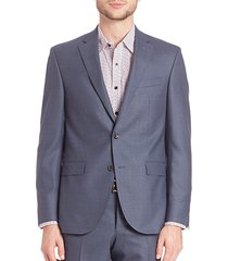 modern single-breasted wool blazer