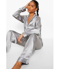 mix & match pyjama blouse, zilver