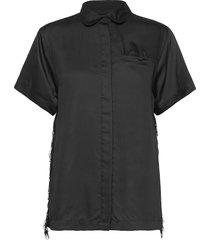 freya short shirt blouses short-sleeved svart underprotection